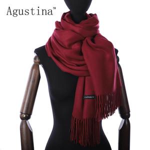 Mulheres cashmere inverno cachecol lenços Shaw lhijab luxo pashmina schal lenços dia marca echarpe dos namorados sjaal poncho oversize Y200103