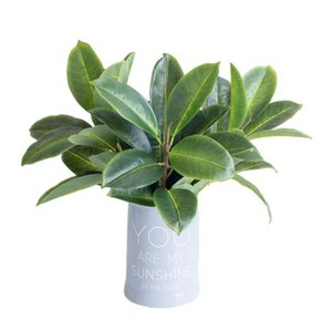 "Fake Single Stem 3D Banyan Leaf 15.75"" Length Simulation Greenery Real Touch Leaf for Wedding Home Decorative Artificial Plants"