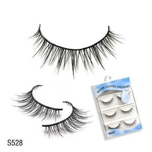 Hot New Reusable False Eyelashes Water-Activated Self-Adhesive Eyelashes Without Glue Beauty Party Makeup Eyelash Extension Eyelashes