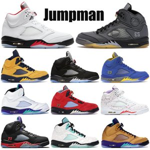 Новые 5s баскетбольные туфли Мужчины Женщины 5 high Jumpman кроссовки черный Муслин металлический огонь красный серебряный язык 2020 тренеры