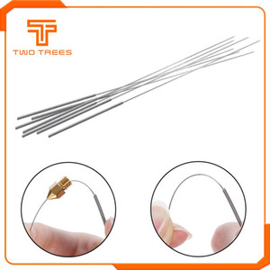 heap 3D Printer Parts & Accessories 10pcs 3D Printer stainless steel nozzle cleaning needle drill bit 0.4mm accessories reprap ultimake f...