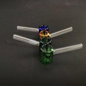 Classic Handheld стеклянных труб молотка форма курительной трубка 3,26 дюйма мини Galss труба прямая трубка многоцветного выбор