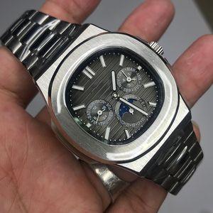 Neue Ankunft BMSR 39mm Luxus-Uhr-Mann Sweeping-Bewegung Uhr Alle Kleine Dials Arbeit Nein Batterie-Uhren
