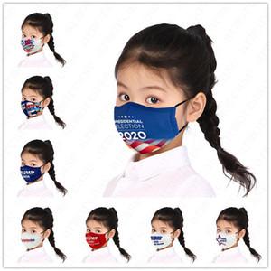 Boy Kız Yüz İçin ABD Başkanı Tasarımcılar Mektuplar Baskılı Çocuk Çocuk 2020 Bayrak Toz Sis PM2.5 Marka Yıkanabilir Kapak D52810 Trump Maskesi