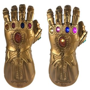 BRELONG Infinity War PVC Light Up Gloves Electronic Fist Halloween Cosplay Props Multicolor Gloves 1 pc