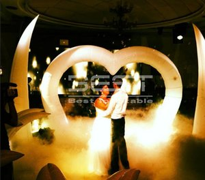 Heart Arch Shaped InDoor inflatable Archway for Wedding Party decoration Outdoor cheap inflatable lighting entrance arch christamas