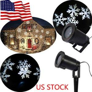 2020 HOT 방수 이동 눈송이 레이저 프로젝터 빛 크리스마스 새해 LED 무대 조명 야외 눈 파티 풍경 램프