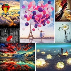 Beautiful View Artworks High Quality 50x40cm Digital DIY Painting Hand Painted Oil Painting Best Gifts for Family