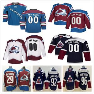 Custom Colorado Avalanche 29 MacKinnon 96 Mikko Rantanen 1 Semyon Varlamov 49 Samuel Girard 17 Tyson Jost Uomo Donna Bambino Youth Hockey Jersey