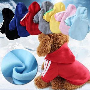 Домашние животные Одежда для собак свитер Домашние животные Спорт Одежда Малый собак Puppy Осень зимней одежды Pet Одежда с Hat Ропа де Перро mascotas