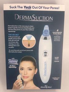 2019 Nova DermaSuction Remover Pore Facial Cleaner Pore elétrica Vacuum Extração remoção da pele recarregável Peeling máquina
