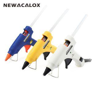 20W EU / US Mini Hot Melt Glue Gun DIY Thermo Electric Силиконовый клей пистолет тепла температура инструмента 20pc 7мм Клей Стик