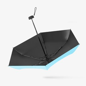 Travel Umbrella Protection Parasol Wind Resistant Outdoor Waterproof Thick Sunny Rainy Gift Compact Anti UV Pocket 5 Folded