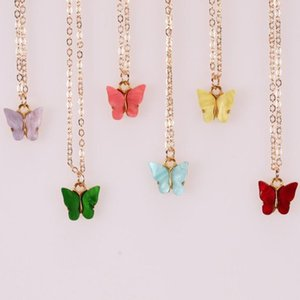 Lovely Butterfly Chokers Necklaces For Womens Gold Plated Simple Style Jewelry Gifts Chokers Necklaces