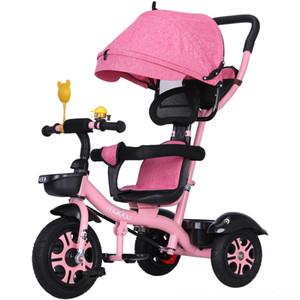 Baby Stroller Parts Acessórios carrinhos carrinho de criança 3 em 1 portátil bicicleta do triciclo do transporte de bebê 3 Rodas Convertible Handle Crianças bicycl