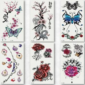 sexy temporäre Tätowierung-Aquarell Stretch Fisch Tattoo schlucken Tätowierung Blume Designs Tiere wasserdicht Tatoo gefälschte Körperkunst