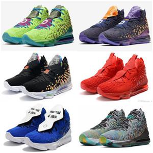 أحذية الأعلى Qaulitys ليبرون 17 Monstars البحرية هيذر / أسود متعدد الألوان السيد Swackhammer I وعد ليبرون السابع عشر 17s من الرجال الأطفال كرة السلة