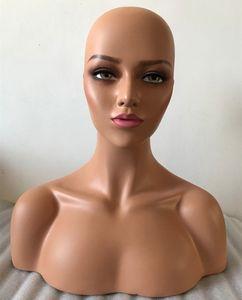 Cabeza femenina cabeza de maniquí de fibra de vidrio realista herramienta del pelo para mostrar productos para el cabello sombreros moda pantalla
