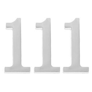 3 Количество шт Количество ящиков 1 дверь Адрес Вход Номер для дома 3D модели, серебро 5x3cm