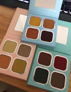 Kourt Poudre Pressée Ombre à paupières Palette 4 couleurs de maquillage Faits saillants fard à paupières 4 x 1.8G palettes Les femmes font Cosmétiques Up