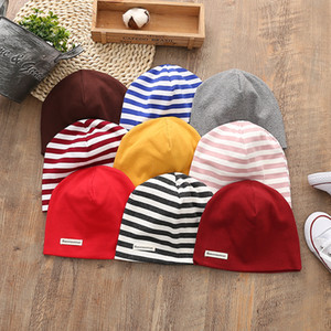 Baby Striped Cap Kids Warm Beanie Caps Baby-weiche Baumwolle Winter stricken Mützen Neugeborenen Beanies Hut GGA2683