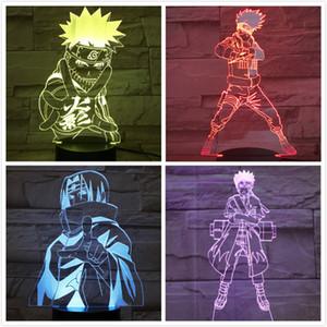 Hokage Naruto Abbildung USB-3D LED-Nachtlicht Gaara Touch Sensor dekorative Lichter Jungen Kind-Kind-Geschenk Kakashi Tischlampe Nacht