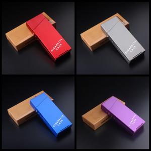 20PCS Cigarettes Holder Long aleación de aluminio portátil creativo caja de cigarrillos caja automática hombres y mujeres hogar nuevo diseño 6jsH1
