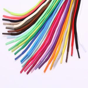 redondos de 5 mm coloridas todos los tamaños cordones de los zapatos deporte de los hombres y las mujeres cordones de zapato para los zapatos de lona de las zapatillas de deporte Sweatpants