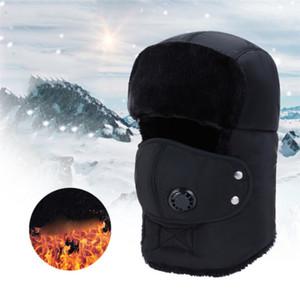 Inverno russo Cappelli del bombardiere Warm inverno degli uomini e delle donne unisex Earmuffs Cap con maschera Spesso Ear equitazione 2020