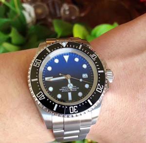 3A + del reloj para hombre 116660 profundo de cerámica Bisel Sea-Dweller para hombre de zafiro de cristal de acero inoxidable mecánico automático de los relojes impermeables