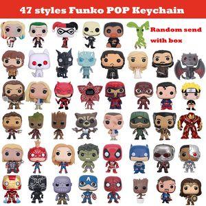 100'den fazla Styles Yeni Funko POP Marvel Eylem Thrones Figürinleri Oyuncak Anahtarlık çocuklar oyuncak Harley Quinn Deadpool Joker Oyunu Şekil BY1504