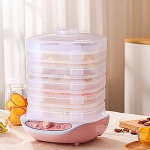 Food Dehydrator Frutas Legumes, Erva, Carne máquina de secagem Pet Snacks Secador de alimentos com 5 bandejas de 220V UE US