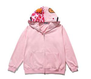 Sudaderas con capucha de camuflaje con estilo de tiburón de los más nuevos Sudadera con capucha de moda Ocio Fleec Jecket Abrigo de marca popular japonesa de alta calidad Hoodies