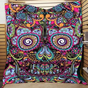 Skull 3D Printed Home Cover Quilt Queen Size Kids Adult Blankets For Beds Soft Sofa Outdoor Warm Camping Picnic Quilt