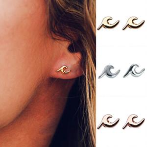 2019 Vague De Mode Boucles D'oreilles 3 Couleurs Or Argent Alliage Boucle D'oreille Piercing Boh pour Femmes Bohême Bijoux D'été