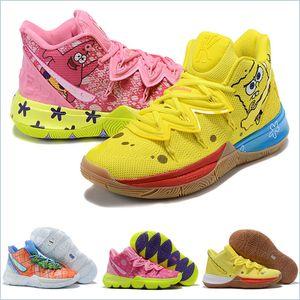 2020 x Esponja Zapatos Kyrie 5 Pineapple House Niños Mujeres aire libre del Mens Irving 5s Graffiti Mantenga Sue fresco diseñadores zapatillas de deporte