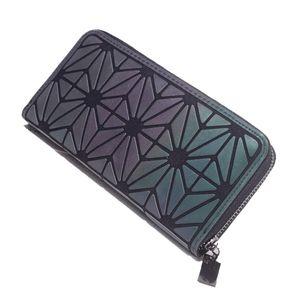 Wristlet Wallets Women PU Leather Card Holder Long Wallet Zipper Around Hologram Clutch Purse Fashion Handbag