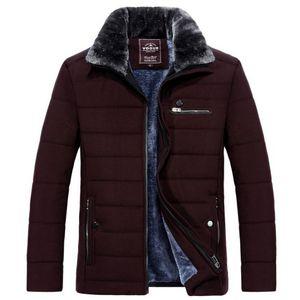 VXO 2020 Male Overcoat Fur Collar Parkas Winter Men's Warm Coat Thick Fleece Fashion Coat Plus Velvet Warm Fur Collar