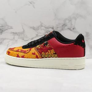 2020 كابس 1 CNY دونك 1'07 الرجال النساء أحذية عارضة الاحذية قليلة التطريز الصين الأحمر تو سكيت الزهور خياطة مصمم أحذية رياضية