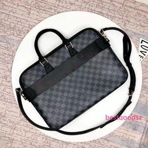 # 848 5A L Marca V DANDY SLIM Maletín bolso de los hombres Crossbody carteras bolsos Bolsa Top Bolsas de hombro Totes manijas Cross Body Bag N63298