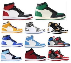 Bred Toe Jumpman 1 High Basketball Shoes For Men Womens Obsidian Chicago Gym Red Banned UNC Patent 1s OG 2020 New Chaussure Sneakers
