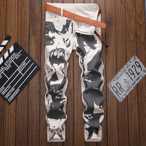 Mens Designer Jeans European American Style Leg High Street color Letter Jeans Quality Fashion Classic Designer Pants Top Quality Size 29-40