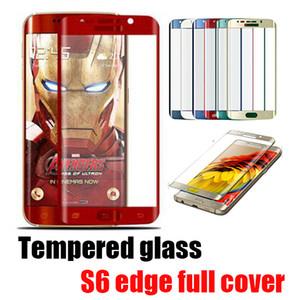 0.2 мм Galaxy S6 edge Full Screen Protector закаленное стекло S6 edge Plus Cover весь экран Curve Screen Protector с розничной упаковкой Opp Bag