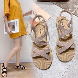 Eillysevens Schuhe Frauen 2020 neue Sommer-Sandalen Gladiators Beach Flat Freizeit Sandalen Damen Sandalen de las mujeres # g40