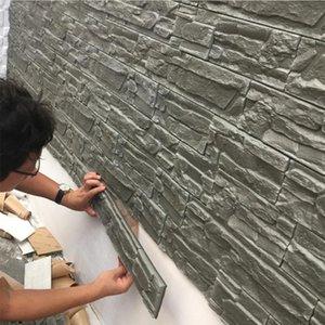 3d duvar panelleri oturma odası için 3d tuğla taş duvar kağıtları çocuk odası yatak odası ev dekor için 3d su geçirmez kendinden yapışkanlı duvar kağıdı