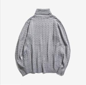 Nuevos hombres otoñales suéter casual turtimeneck rayado slim fit tejiendo los suéteres de los hombres jerseys jerseys jersever m-5xl
