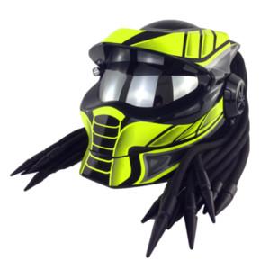 Cool Helmet Predator Flip Up Silver Visor Iron Man Motorcycle Helmet Custom Men Street Casco De Moto Predator Helmets Motorbike