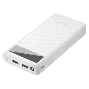 Hot 3C-Type C Dual Usb Qc3.0 7X 18650 Battery Diy Power Bank Box Charger For Cell Phone(No Battery)White