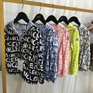 yalnızca boş 140 boy stok Çocuklar Ceket İlkbahar Yaz Giyim Erkek Kız Kapşonlu Güneş Koruyucu Giysi Bebek Coat Fermuar ceket Tops
