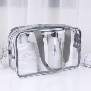 Transparente PVC-Beutel-Spielraum-Organisator klaren Make-up-Tasche Kosmetikerin Kosmetiktasche Beauty Case Kulturbeutel Make Up Pouch Wash Taschen VT0077
